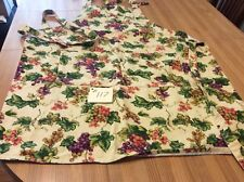 Nice Full Work Apron Clusters Of Grapes All Over Fabric Double Pocket