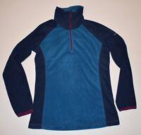 Columbia Women's Medium Two Tone Blue Purple Full Zip Soft Fleece Jacket