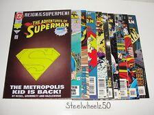 Adventures Of Superman 10 Comic Lot DC 1993 #501 505-507 508 509 512 513 515 522