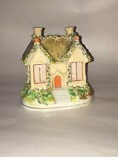 Staffordhire Pottery Cottage Pastille Burner Nicely Decorated Ca. 1840