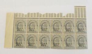 India Jind 1903 KEd block of 12 x  3p grey UMM