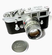 EXCELLENT + + Leica M3 Double Stroke mit 50mm f/2 Ridgid Summicron Objektiv