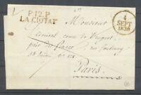 1830 Lettre P12P LA CIOTAT BOUCHES DU RHONE(12) Superbe X2924