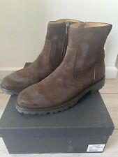 Belstaff Boots Attwell Dark Brown Suede Shoes Size 43