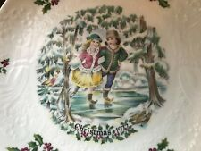Royal Doulton ~1st In aSeries of 4 Bone China Christmas Plates ~1977 ~ Mint