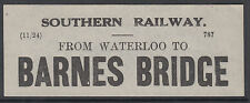 SR Collectable Railway Luggage Labels