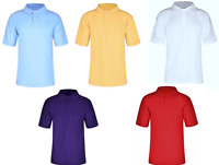 Kids Boys/Girls Polo T.Shirts,Pique Cotton Short Sleeves Uniforms School 3-16yrs
