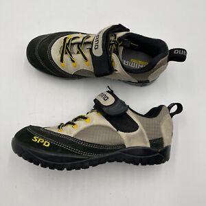 SHIMANO SPD Cycling Shoes Women's Size 6.5 Leather Suede Mountain Biking 2 Bolts