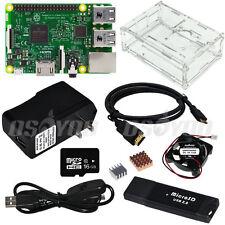 Raspberry Pi 3 Board Clear Case Mini Fan 5V 2.5A US/EU/UK/AU Power Adapter