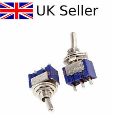 10PCS Mini 6A 125VAC SPDT MTS-102 3 Pin 2 Position On-on Toggle Switches UK ~