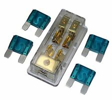 Aps Free 4Pcs 60A Fuse Maxi Fuse Holder 3 X 4Ga In 2X 8Ga Out Gold Plated