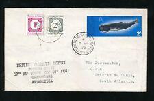 Antartide a Tristan da Cunha affrancatura diritti 1978 BAT BALENA rothera Point