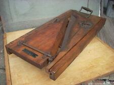 Antique JACOBS BROS. Wood & Cast Iron Adjustable Blade Meat Slicer Complete NICE