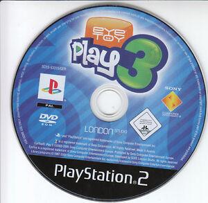 Sony eye Toy Play 3 PS2 Game PlayStation 2 Spiel Pal nur Spiele Disc