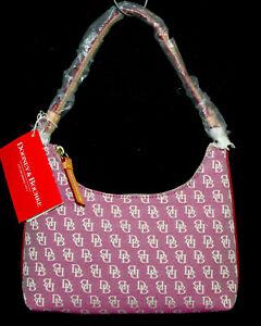 NWT $130 DOONEY & BOURKE HW36Q Mini Short Shoulder Bag Violet Signature Canvas