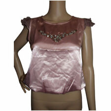 Silk Formal Solid Tops for Women
