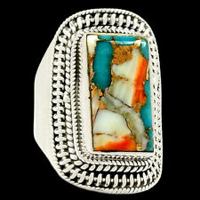 Spiny Oyster Arizona Turquoise 925 Sterling Silver Ring Jewelry s.8 RR69504