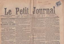 Timbre à 1c type Sage noir sur blanc sur journal de 1886