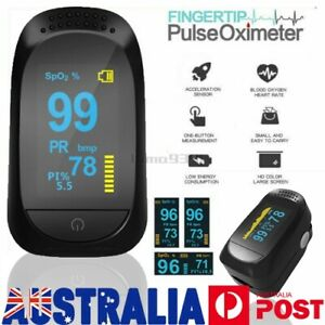 Fingertip Pulse Oximeter Blood Oxygen meter SpO2 Heart Rate Patient Monitor AU