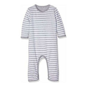 Name It Baby Boy Girl Grey Unisex Suit Reversible Footies Long Sleeve 2-4 month