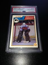 Pelle Lindbergh Signed 1983-84 O-Pee-Chee OPC Rookie Card PSA Slabbed #27929684