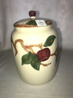 """Vintage Hand Painted Franciscan Apple Large COOKIE JAR 1940-47 USA 10"""" Tall"""