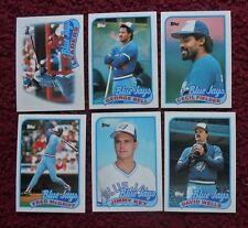 1989 Topps Toronto Blue Jays Baseball Team Set (29 Cards) ~ Cecil Fielder KEY ++
