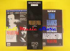 VHS BOX film PHILADELPHIA edizione collezionisti 1995 Tom Hanks 2583(F63) no dvd