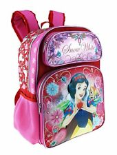 "Disney Princess Snow White 16"" Shine Pink Color Large Backpack"