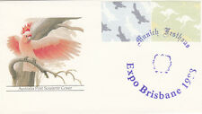 Stamps Australia frama 00.01 issues on Galah generic cover Munich Festhaus 1988