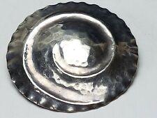 835 Silber Brosche Art Deco Hammerschlag Dekor Handarbeit um 1930 /A 762