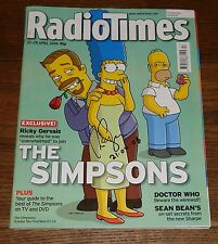 RICKY GERVAIS OFFICE SIGNED THE SIMPSONS RADIO TIMES 2006 UACC REGISTERED DEALER