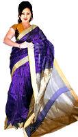 Purple Art Silk Sari Saree Belly Dance Dress Curtain Drape Panel Fabric Dresses