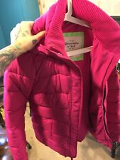 Gorgeous Abercrombie & Fitch Pink Winter Puffer Coat Jacket S