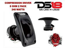 (2) Compression Super Driver Loud Speaker Horn Tweeter 8 Ohm 240W DS18 PRO-DKN25