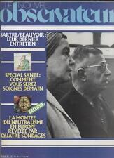 Le Nouvel Observateur   N°889   21 Au 27 Novembre 1981: Sartre/beauvoir