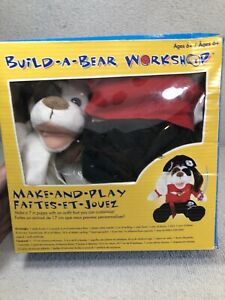 Build A Bear Workshop Make and Play Kit Puppy Pirate New Open Box