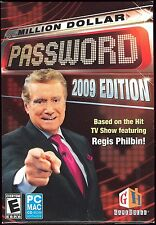 Million Dollar Password 2009 Ed. PC Video Game Brand New & Factory Sealed MAC