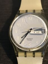 Rare 1980's Vintage Classic Rarity Swatch Jelly Skin #027 Pearl Ghost White