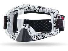 "IV2 ""SNOW CAMO"" High Performance Motocross Goggles, Anti-Scratch, 100% UV Shield"