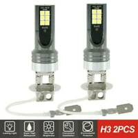 H3 LED Fog Light Bulbs Headlight Kit 1500W 6000K Driving Lamps DRL Replacement*2