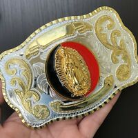 HIGH QUALITY Oversize Vintage Belt Buckle Western Cowboy SILVER GOLD MEN WOMEN
