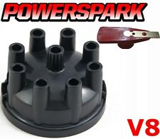 V8 Rover P5 SD1 3.5 3.9 4.2 Black Distributor Cap & Red Rotor Arm