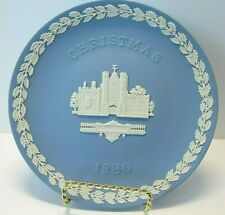 Wedgwood 1985 Christmas Plate - Pale Blue & White Jasperware - Tate Gallery