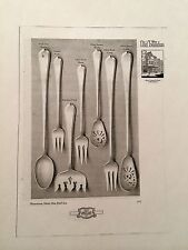 c.1916 Gorham Silversmiths Old London Sterling Silver Flatware Catalog 24 Pages