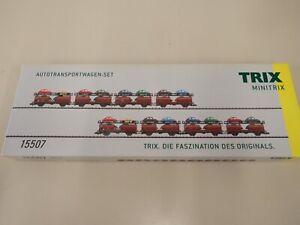 Minitrix Trix 15507 Autotransportwagen-Set Güterwagen Modellbahn Spur N C574