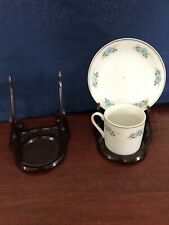 Two Vintage Gilmark Mini Cup Saucer Holders Display Stands- Plastic-Rare