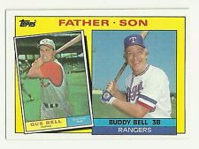 1985 Topps Buddy Bell Texas Rangers #131 Father Son
