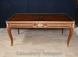 French Coffee Tables - Empire Marquetry Inlay