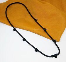 THAI BUDDHIST AMULET BLACK NECKLACE 7 HOOK UNISEX HANDMADE THICK STRONG QUALITY